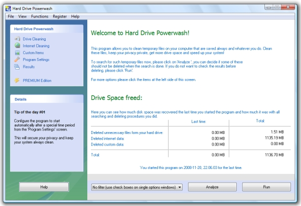 Click to view Hard Drive Powerwash FREE 2.00 screenshot