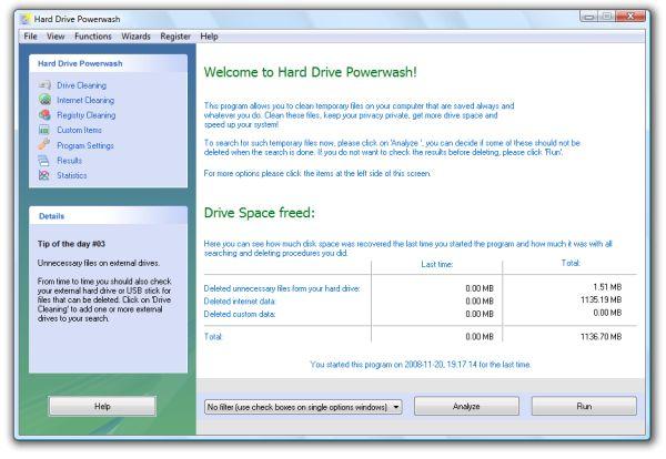 Screenshot of Hard Drive Powerwash
