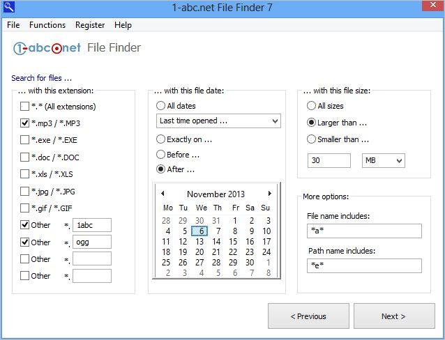 1-abc.net File Finder - 文件查找工具丨反斗限免