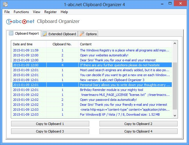 """1-abc.net Clipboard Organizer - 剪贴板管理软件丨""""反""""斗限免"""